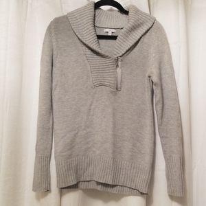 Gap gray collar zipper sweater